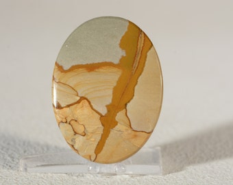 Cripple Creek Jasper Cabochon. Handcrafted USA. Natural Gemstone.