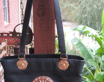 Black leather vintage purse