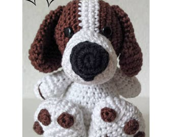 Cute Dog Crochet Pattern. Amigurumi Crochet Pattern.  Boris the Tough Dog  Amigurumi Pattern