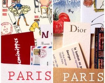 3 Paris letters and 3 maps, a 3-month subscription combo, plus Paris souvenirs, plus bonus watercolor