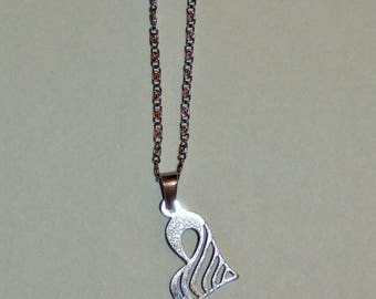 Surgical stainless steel heart pendant necklace