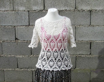 T-shirt, hand-woven, cotton, summer, tops and T-shirts, jersey, summer blouse
