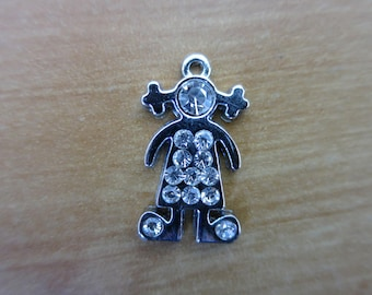Silver girl charm