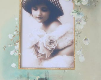 Lovely Antique Passe-Partout, French Victorian Photo Album Page, Decorated Double Cardboard, France