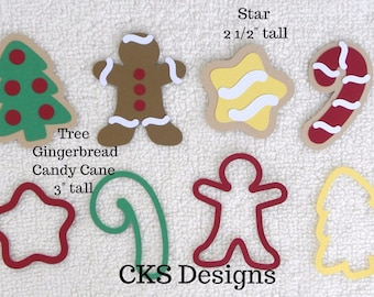 Die Cut Baking Christmas Cookies for Santa Paper Piecing Embellishment for Card Making Scrapbook or Paper Crafts