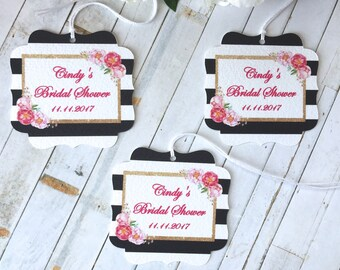 Bridal shower favor tags, Bachelorette party favor tags, Wedding favor tag, quinceanera favor tags, Sweet 16 favor tags, Floral tag