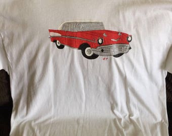 57 Chevy Tshirt Hand Painted