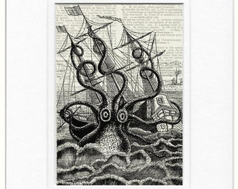 Octopus Ship Wreck print