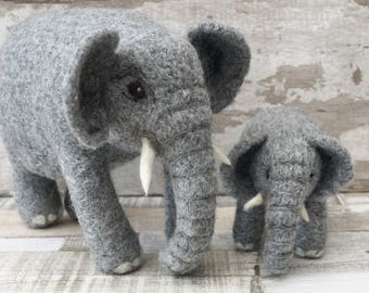 """Jasmine and Juniper """"Double"""" Elephant Knitting and Felting kit Free UK Shipping"""