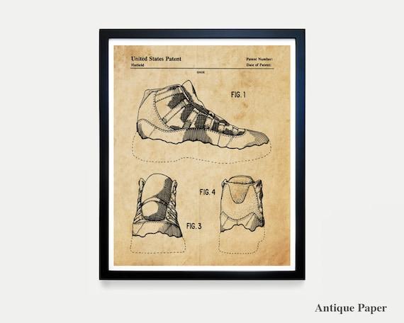 Nike Air Jordan 11 - Nike Shoes - Nike Sneakers - Air Jordans - Air Jordan Patent - Nike Patent - Nike Poster - Nike Art - Sneaker Art