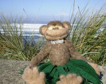 Miko the Hula Monkey OOAK