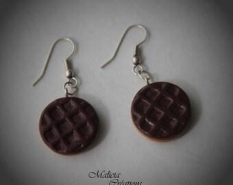 """Pair of gourmet """"Cookie Granola"""" earrings"""