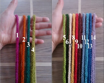 Handmade lucet cord, 100% wool, - by the metre