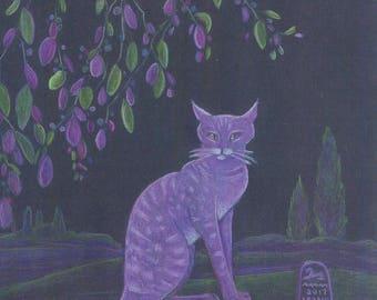 Purple Purrsuasion, purple cat in garden