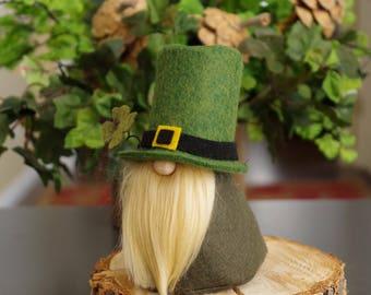 Green LEPRECHAUN Gnome, St Patrick's Day, Irish, Gnomes, Fairy Gnome, Ireland, Scandinavian Gnomes, Irish Gnome, Gifts, Ireland, Gnome Gifts