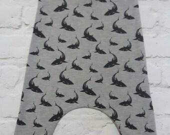 Shark romper, dungarees