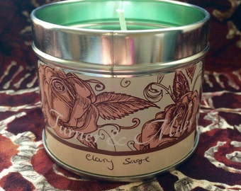 Clary Sage Scented Candle