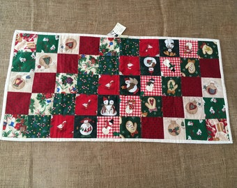 Patchwork Christmas Table Runner size 40 inches by 20 inches