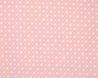 Petite Pink Flower Quilt Fabric, 100 Percent Cotton, Fabric by the Yard