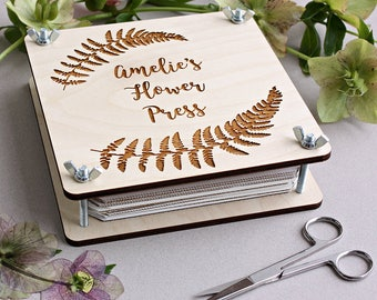 Personalised Botanical Flower Press
