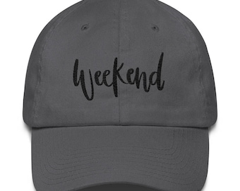 Weekend - Hand Lettered Design - Cotton Cap