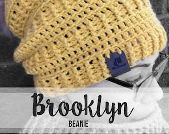 Crochet Pattern // Brooklyn Beanie // Easy