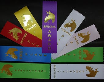 Horse show, LOT OF 25 1st, 2nd, 3rd, 4th, 5th, 6th, place Ribbons Your choice