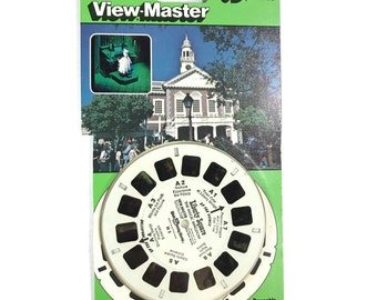 Walt Disney World Magic Kingdom LIBERTY SQUARE View-Master 3 Reel Sets 3D 3-pk Reels NIP 1980s Toy