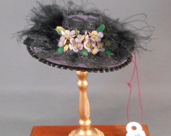"Dollhouse Miniature 1"" Scale Silk Hat"