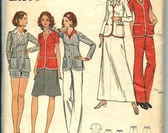 VTG Butterick 6621 Misses Easy Jacket, Pants, Shorts and Skirt Pattern, Size 16 UNCUT