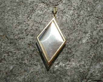 DIY Gold Tone Diamond Pendant Setting Frame Mounting 222G handmade gift jewellery supplies for embroidery cross-stitch