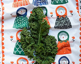 """Matryona Tea Towel 100% cotton, 20""""x30"""", comes in a gift packaging with a complimentary recipe card"""