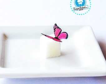 Wedding Cake Topper Itsy Bitsy Mini Edible Butterflies - Assorted Pink set of 48 - for Cake Decorating and Cupcake Toppers