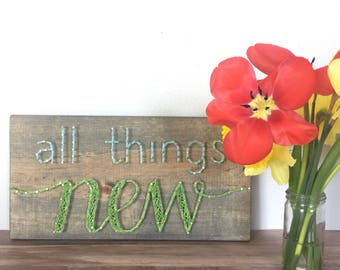 All Things New string art