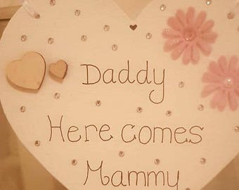 Daddy here comes mammy heart