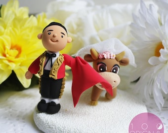 Custom Wedding Cake Topper- Spain Wedding Theme