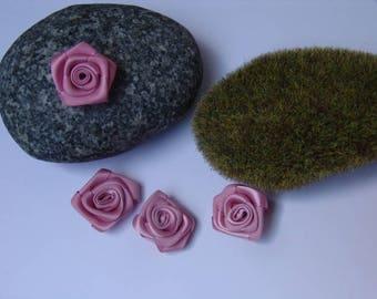 Dusty pink satin - 2.50 cm in diameter
