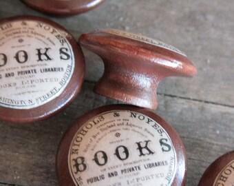 Vintage Knobs The Books Door Pull in Brown
