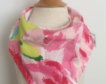 hotty pink first impression  ~ bandana bib ~ drool bib ~ lilly pulitzer bandana bib from lillybelle designs