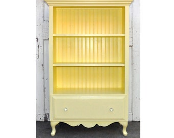 Bookcase with Drawer in Vintage Yellow