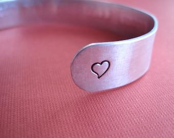 Personalized Cuff Bracelet - Hand stamped Custom bracelet - 3/8