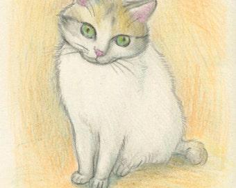 Cat original drawing - P003January2016