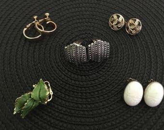 Vintage Earrings, Clip-On Earrings, Ladies Earrings, Napier Earrings, 1980's Earrings, Avon Earrings