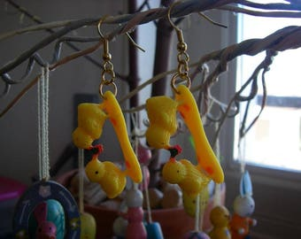 Earrings recycled toy