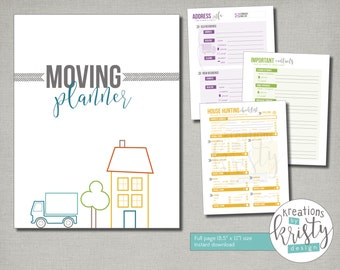 Printable Moving and House Hunting Planner, Instant Digital Download