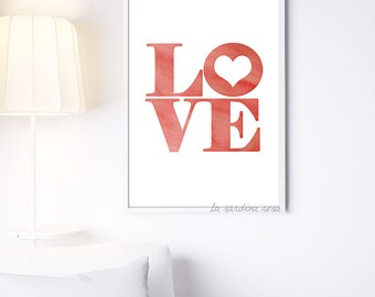 Mother's day gift, Love wall art, Love print, Love wall decor, Bedroom art, Love poster, printable art #0002R