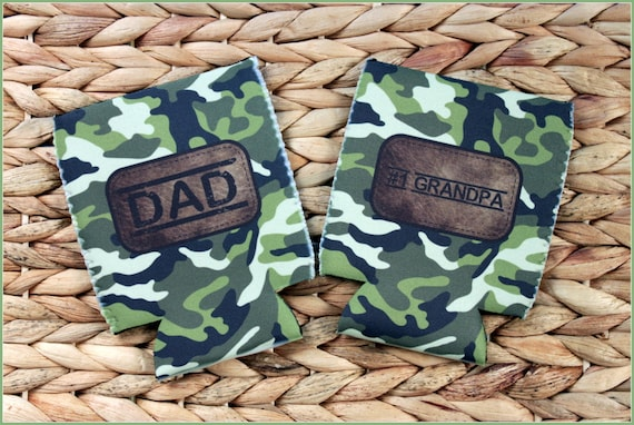 Gifts for Men Gifts for Dad & Grandpa Gift Ideas Best Dad Ever Gift Custom Can Coolers Personalized Beer Coolie Camouflage