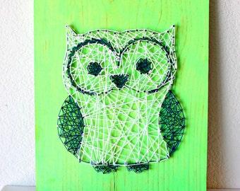 Owl String Art, Owl Decor, Wooden Owls, Owl Baby Shower, Owl Gift, Baby Owls, Decorative Owls, String Art, Custom String Art, Wooden Sign