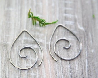 Titanium Spiral hoops | Tiny spiral earrings| Niobium earrings | Niobium Hoops | Spiral earrings