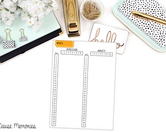 BUJO: Monthly Mental Health Tracking LARGE Sticker